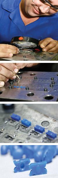 Plástico Moderno, Microinjeção - Exigência de precisão desafia os projetistas de ferramentas e os transformadores