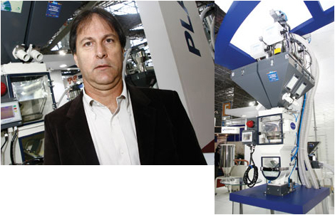 Plástico Moderno, Daniel Ebel, diretor da Plast-Equip/Rax, Periféricos - Equipamentos emplacam mesmo com as dificuldades econômicas, por gerar ganho de produtividade