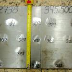Plástico Moderno, Figura 01B – DIN 1.2738 – Valores de dureza encontrados na secção transversal – 302-321HB