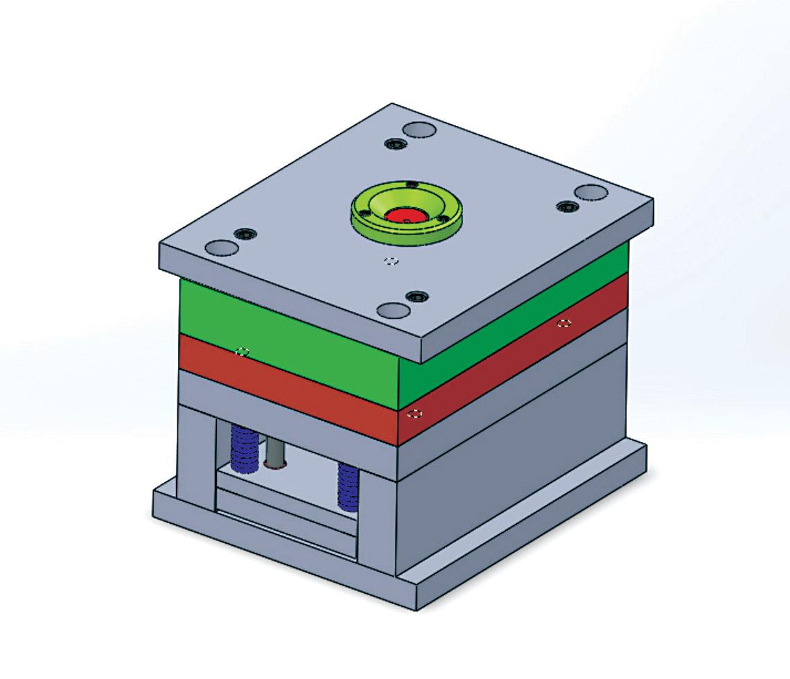 Plástico Moderno, Molde de injeção projetado em 3D pelos alunos da Escola LF